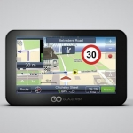 Goclever Navio 500 Plus Slim Car Navigator with Full Europe Maps for 42 C