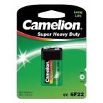 Camelion Super Heavy Duty 9V Block (6F22), Green, 1 pcs