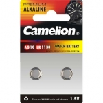 Camelion Alkaline Button celles 1.5V (AG10) LR54/LR1131/389, 2-pack
